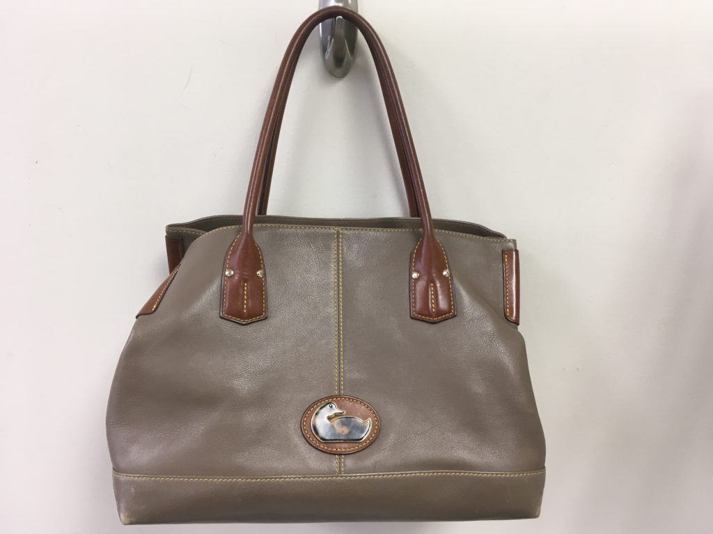 Dooney & Bourke Taupe Leather Handbag