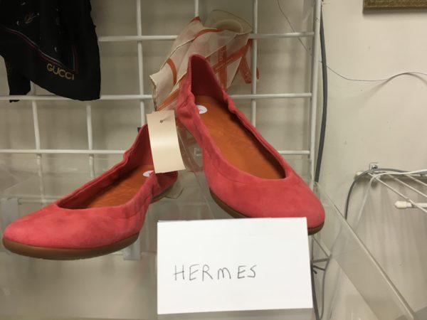 Hermès suede flats size 8